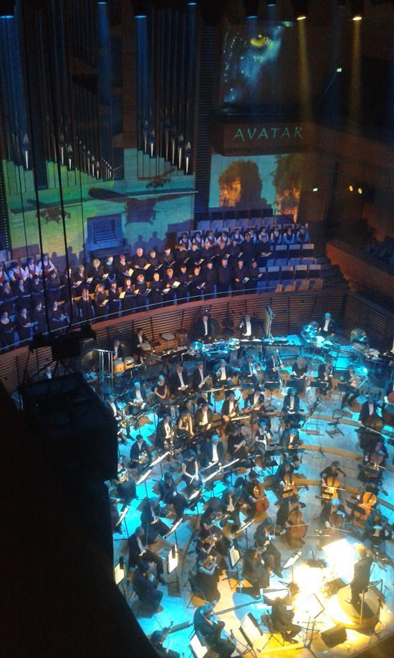 En liten delegasjon som deltok på Avatarkonsert i konserthuset